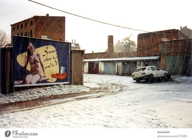 Winter House (Residential Structure) Street Cold Snow Media Advertising Poster Symbols and metaphors