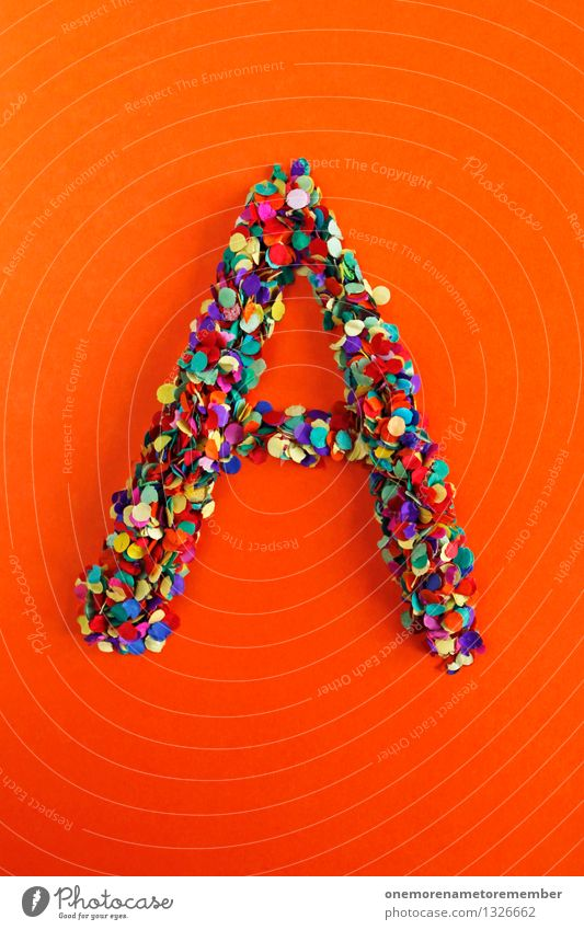 A Art Esthetic a Letters (alphabet) Typography Greek alphabet Orange-red Mosaic Creativity Confetti Design Idea Multicoloured Gaudy Many Point