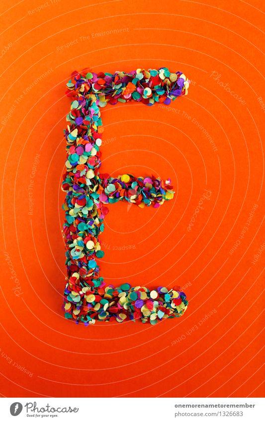 Art Design Esthetic Creativity Idea Letters (alphabet) Typography Work of art Confetti Orange-red Alphabetical