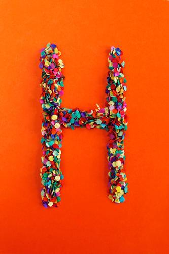 Art Design Esthetic Creativity Idea Letters (alphabet) Point Many Typography Work of art Confetti Mosaic Alphabetical
