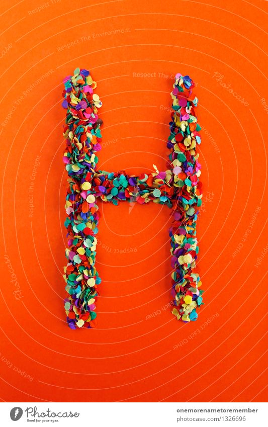 h Art Work of art Esthetic H Letters (alphabet) Typography Alphabetical Confetti Many Point Mosaic Design Creativity Idea Colour photo Multicoloured