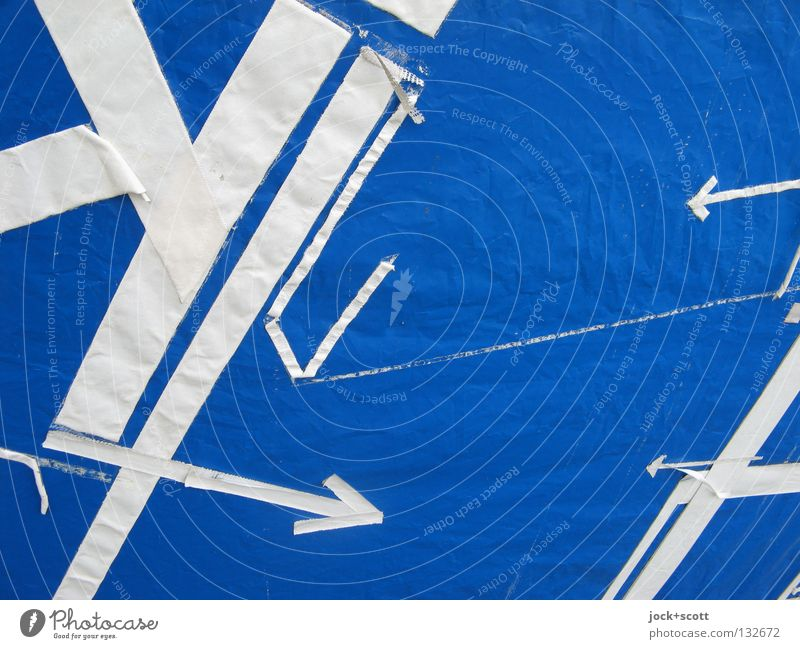 Survey Line Arrow Blue White Arrangement Target Objective Cross Norm Geometry Border Evident Discern Direction Aimless Second-hand Line width Connect Surface