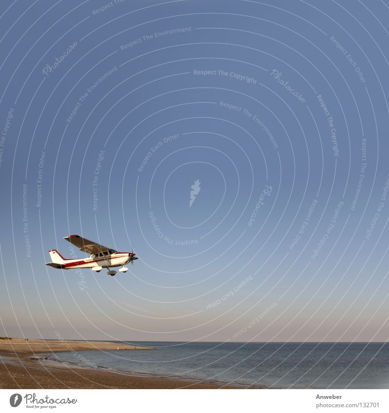 Nature Water Ocean Beach Vacation & Travel Landscape Coast Airplane Environment Flying Large Horizon Transport Aviation Airplane takeoff Square