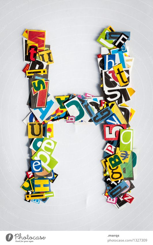 h Style Design Education Characters H Snippets Latin alphabet Colour photo Multicoloured Isolated Image Neutral Background