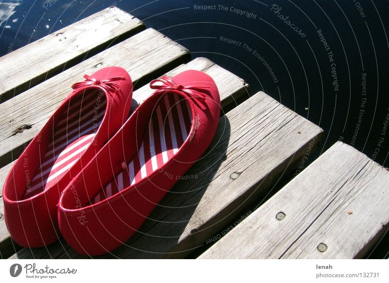 red shoes on travel. Summer Vacation & Travel Calm Joie de vivre (Vitality) Freedom Ballerina