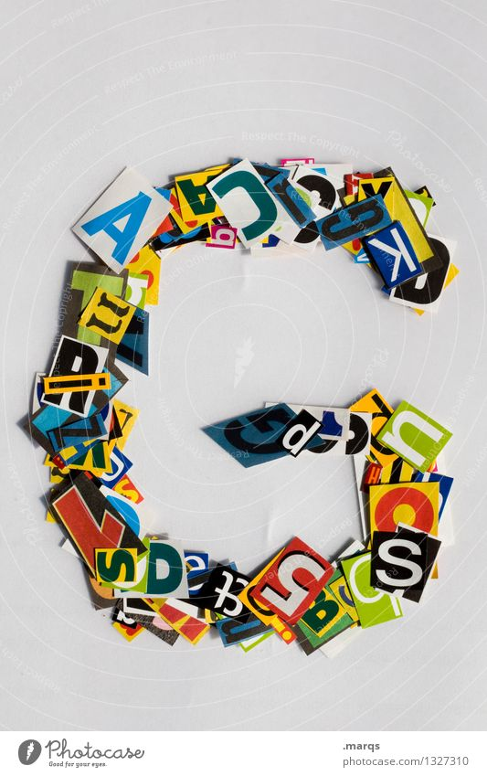 g Style Design Education Characters Snippets Latin alphabet Colour photo Multicoloured Isolated Image Neutral Background