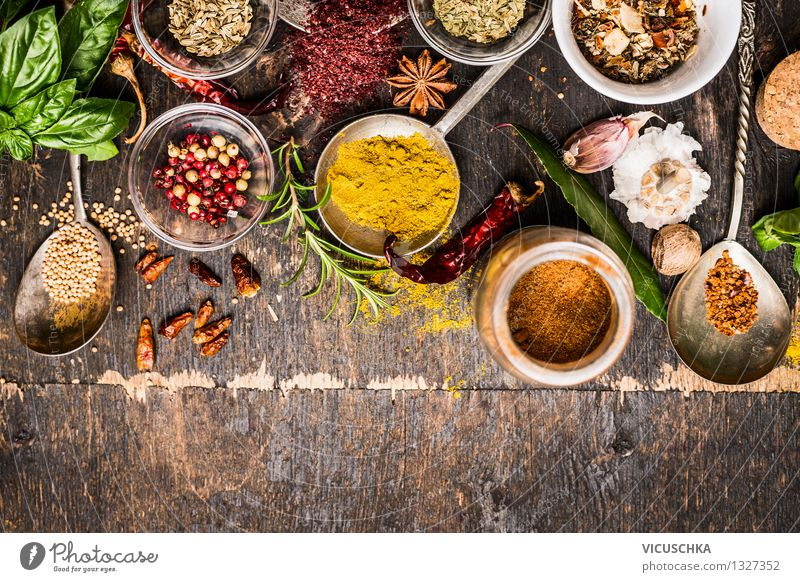 Healthy Eating Life Style Background picture Food Design Nutrition Table Cooking & Baking Herbs and spices Organic produce Plate Bowl Dinner Vintage Diet