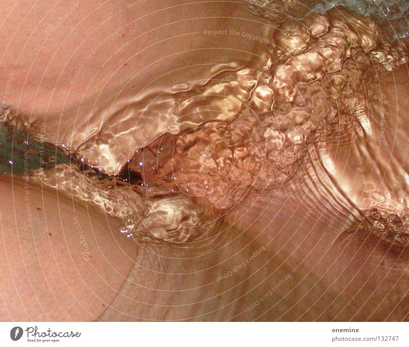 Nude photography Water Eroticism Legs Skin Wet Swimming & Bathing Wash Section of image Vagina Partially visible Pubic area Water reflection Genital area