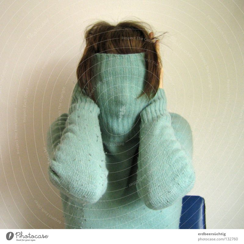 Faceless Anxiety Roll-necked sweater Attract Shock of hair Joint Wall (building) Cold Empty Stay Silent Scream Blind Concealed Open Panic Senses Purloin Fear