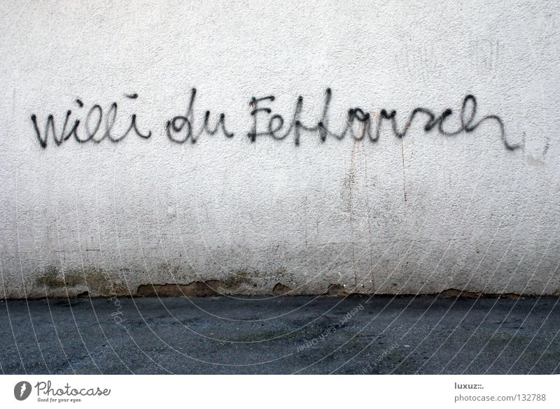 Poor Willi Show disrespect Wall (building) Affront Psychological terror Figure of speech Education Moral Feeble willing gaffed Graffiti Town fat-ass Cuss word