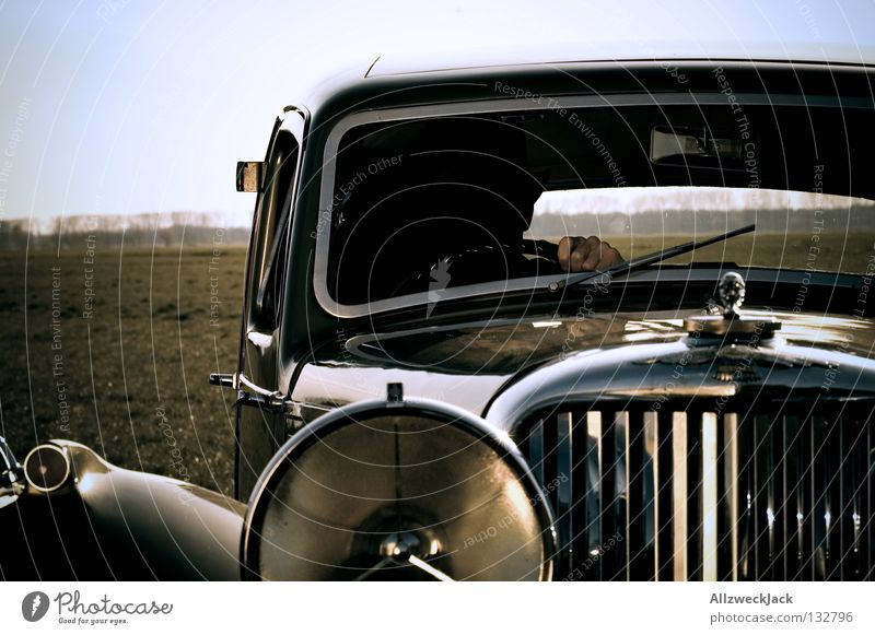 Hand Beautiful Old Car Germany Design Motor vehicle Driving Past Conduct Anonymous Floodlight Foreign Vintage car Tasty Driver
