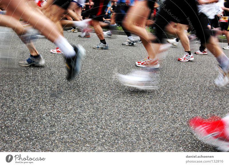 Woman Man Street Sports Movement Feet Footwear Legs Healthy Walking Success Beginning Running Speed Perspective Fitness