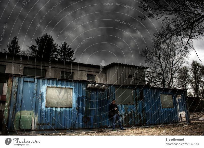 Sky Clouds Loneliness Dark Industry Derelict Photographer Container HDR