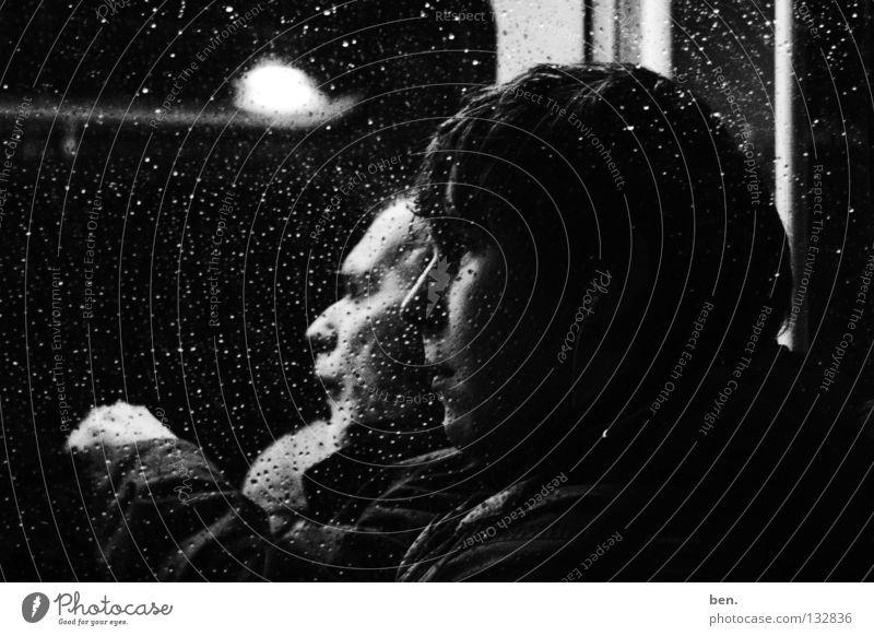 break Black White Portrait photograph Window Reflection Emotions Bus Window pane aphrodite child Nemo 1934 Alexander Supertramp