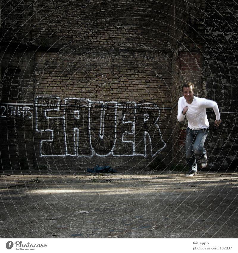 ... makes fun Anger Aggression Attack Antagonism War Adversary Walking Wall (building) Wall (barrier) Brick Ghetto Sense of taste Vitamin C Man Personal