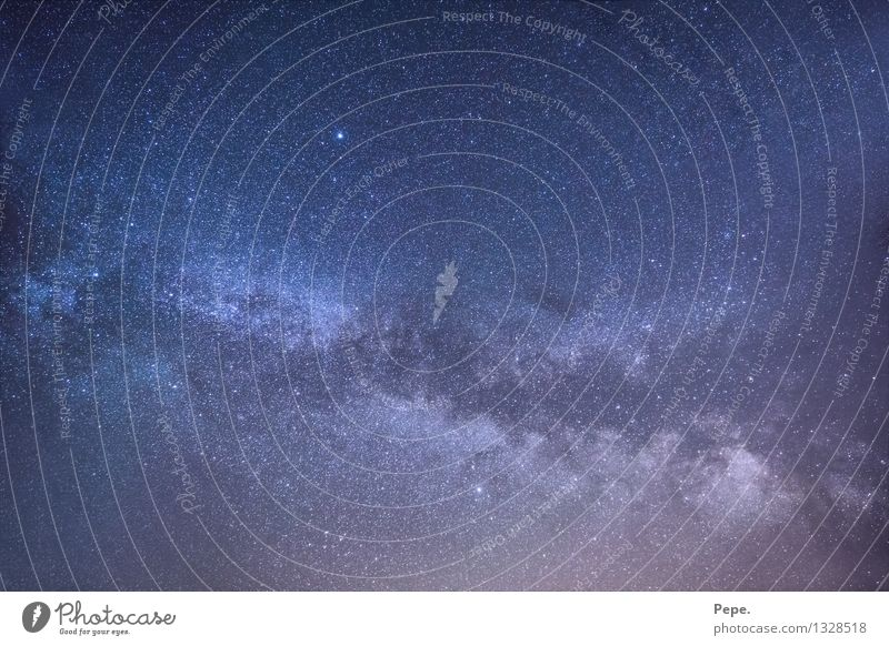 infinitely Sky Night sky Stars Blue Violet Happy Contentment Milky way Universe Planet Panorama (View)