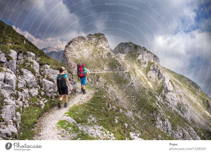 mountain path Mountain Hiking Human being Nature Dream Green Innsbruck Austria tour Colour photo