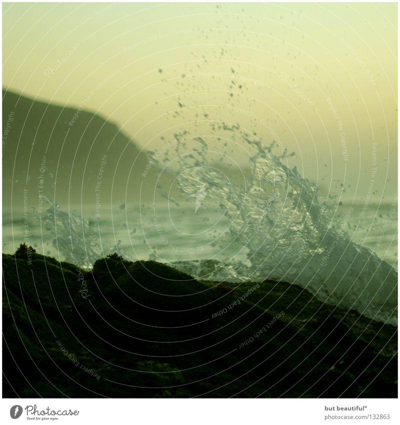 Beautiful Ocean Green Summer Beach Waves Coast Bay Spain Harmonious Surf White crest