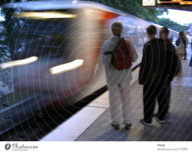 Arriving subway Underground Speed Transport Hamburg