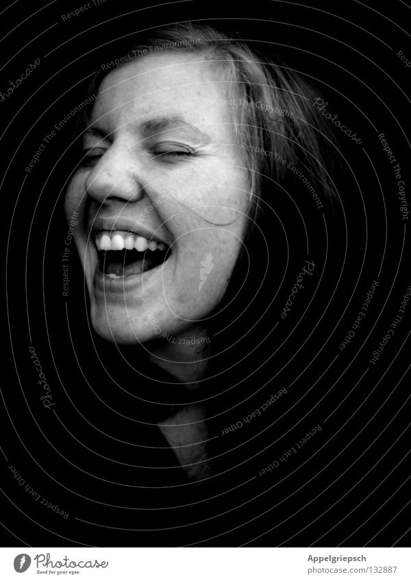 freisingen Portrait photograph Sing Song Girl Woman Voice Loud European Youth (Young adults) Life Joy Head Black & white photo Music Happy Free Artist Face