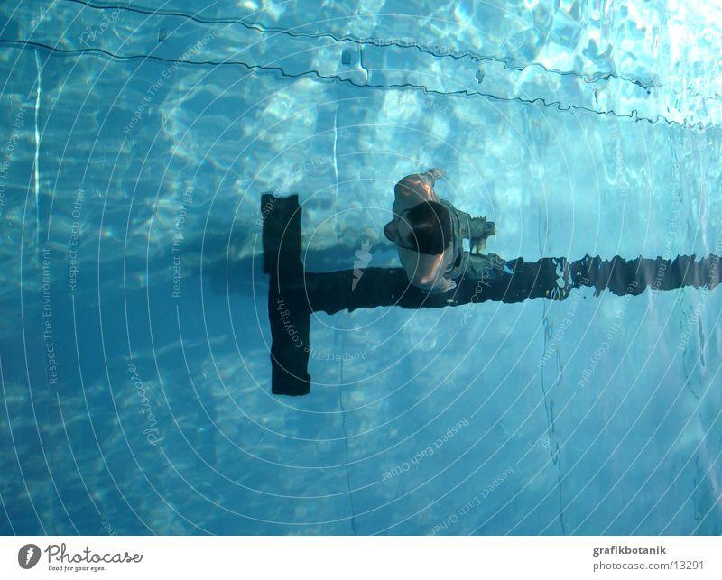 Sky Man Blue Water Back Swimming pool Pants Jeans Crucifix Christian cross Christianity