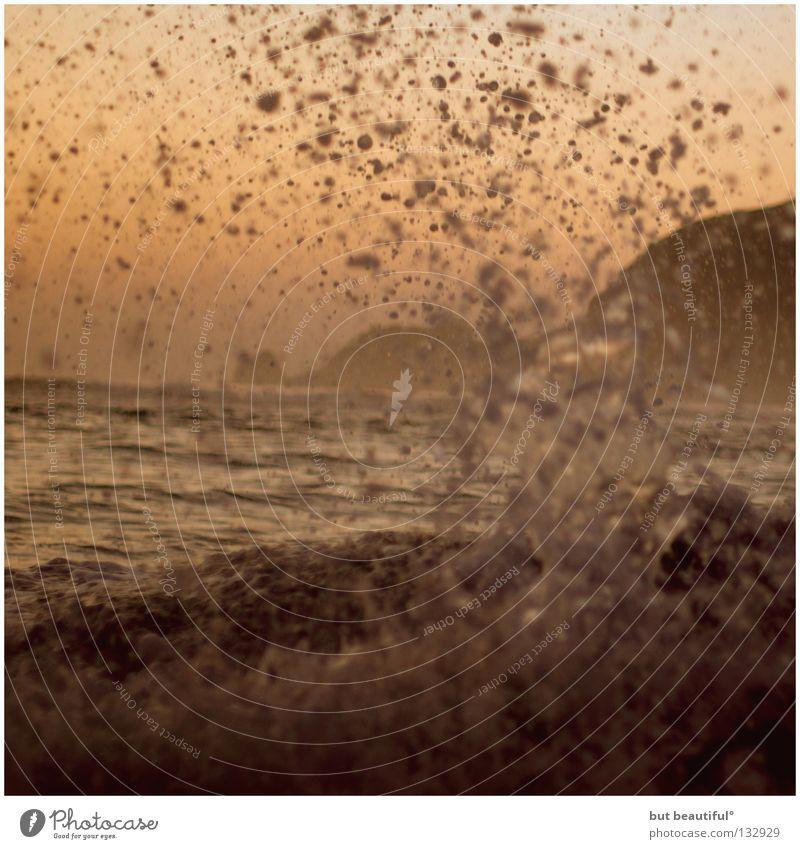 Water Ocean Red Beach Death Coast Spain Surf White crest Hissing