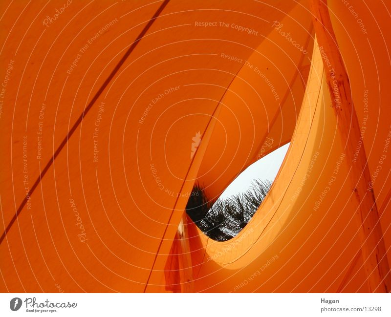 orange tent 2 Tent Vista Movement Waves Architecture Orange