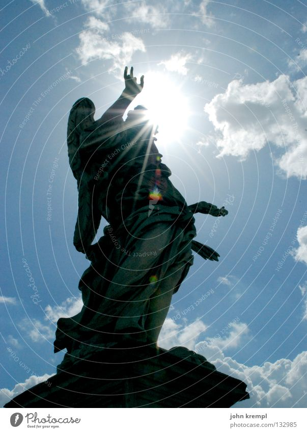 Sky Blue Sun Clouds Italy Monument Statue Landmark Holy Rome Celestial bodies and the universe Rocker