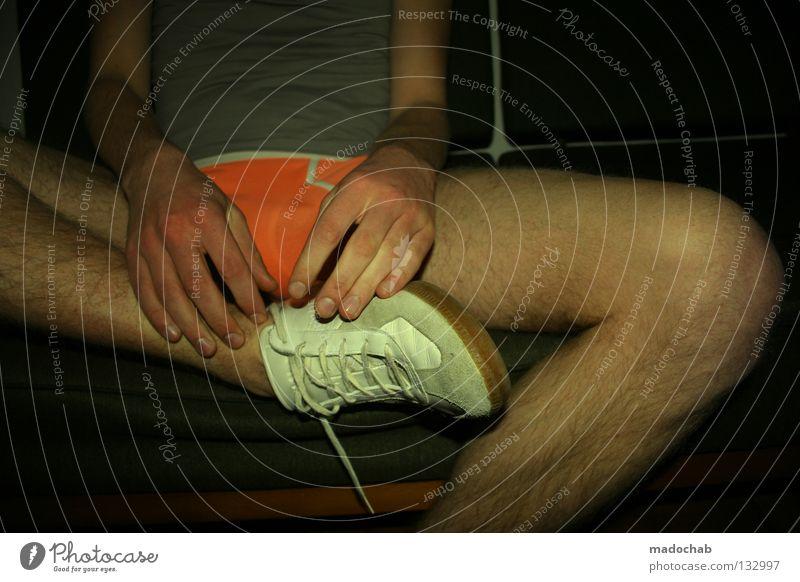 Man Hand Joy Relaxation Eroticism Sports Legs Footwear Contentment Flat (apartment) Arm Sit Skin Masculine Fingers