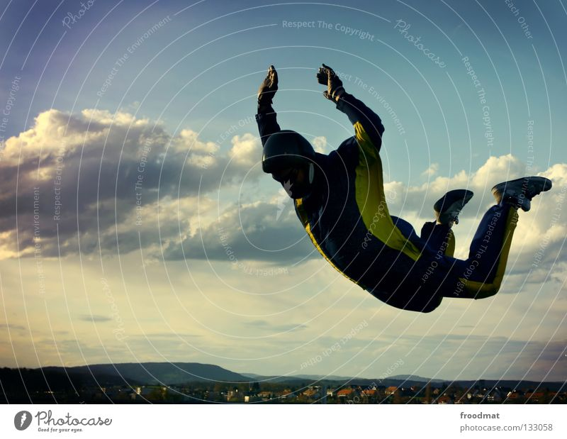 fly like a devil Clouds Action Sports Jubilee Helmet Parachute Jump Weightlessness Switzerland Current Contentment Back draft Hover Maneuver Easygoing