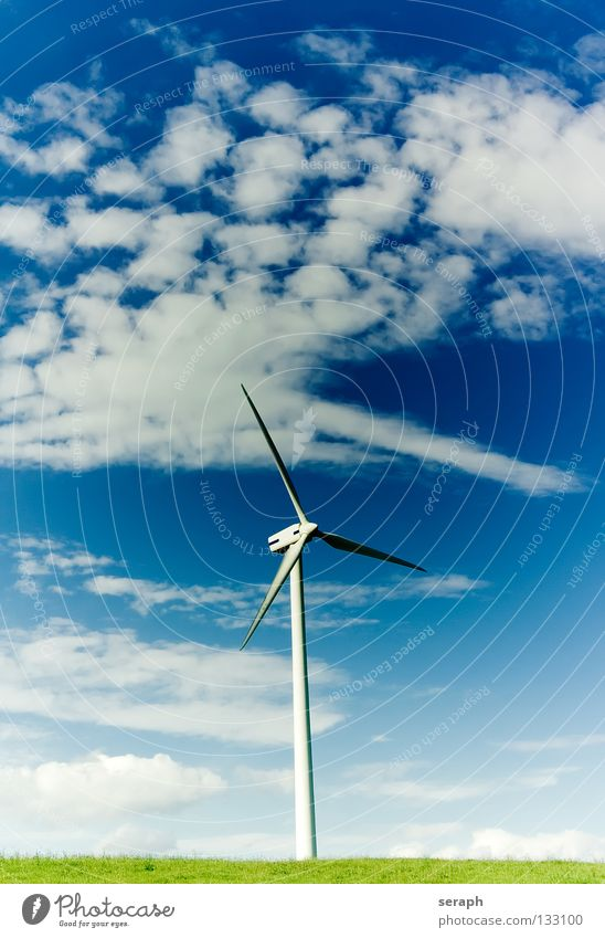 Clean Energy Clouds Environment Energy industry Modern Wind Electricity Technology Wing Wind energy plant Construction Environmental protection Ecological