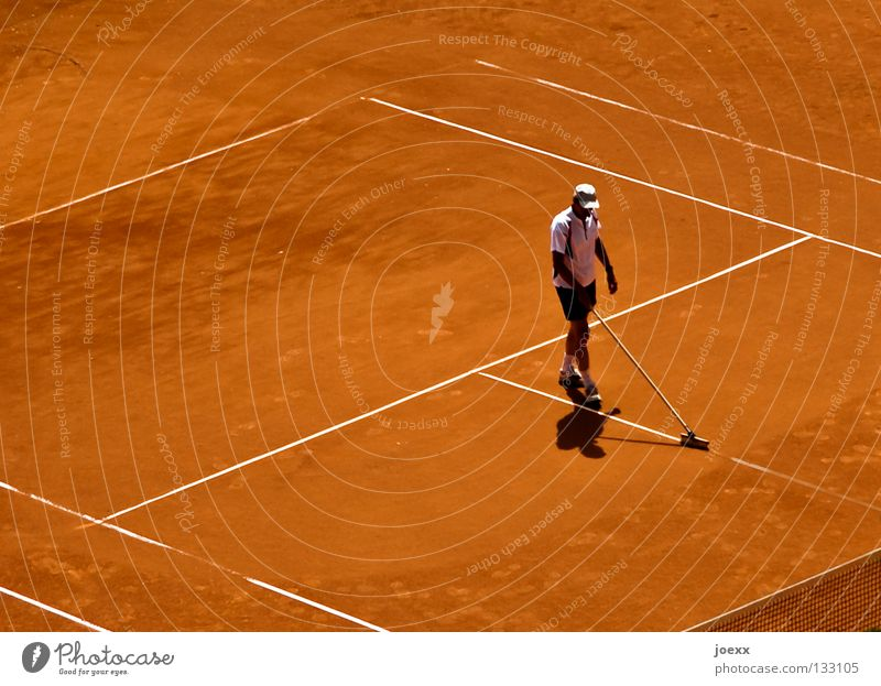 Man Red Summer Sports Playing Sand Line Brown Places Gloomy Break Net Clean Profession Cleaning Border