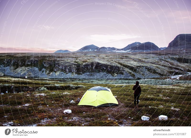 Norway VII - Rondane Vacation & Travel Trip Adventure Far-off places Freedom Camping Mountain Hiking Human being Feminine 1 18 - 30 years Youth (Young adults)