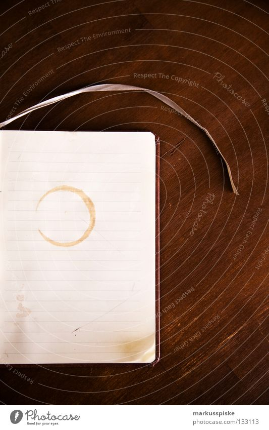 Wood Dirty Book Paper Table Corner Coffee Communicate Write Meeting Edge Piece of paper Patch Memory Date Remember