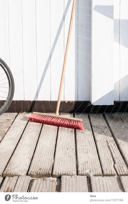 ready for use House (Residential Structure) Broom Wood Wait Clean Diligent Disciplined Orderliness Cleanliness Wall (building) Wooden board Arrangement