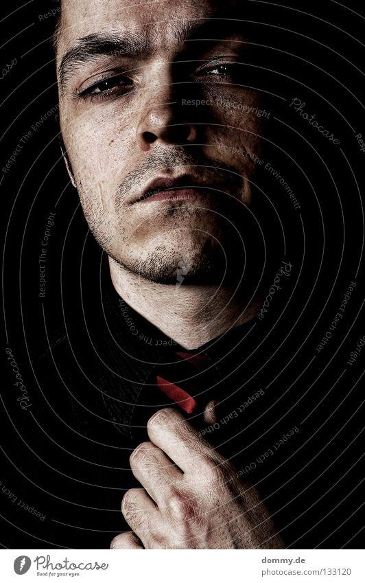Man Hand Black Face Dark Mouth Skin Nose Broken Ear Lips Shirt Facial hair Fatigue Cheek Tie
