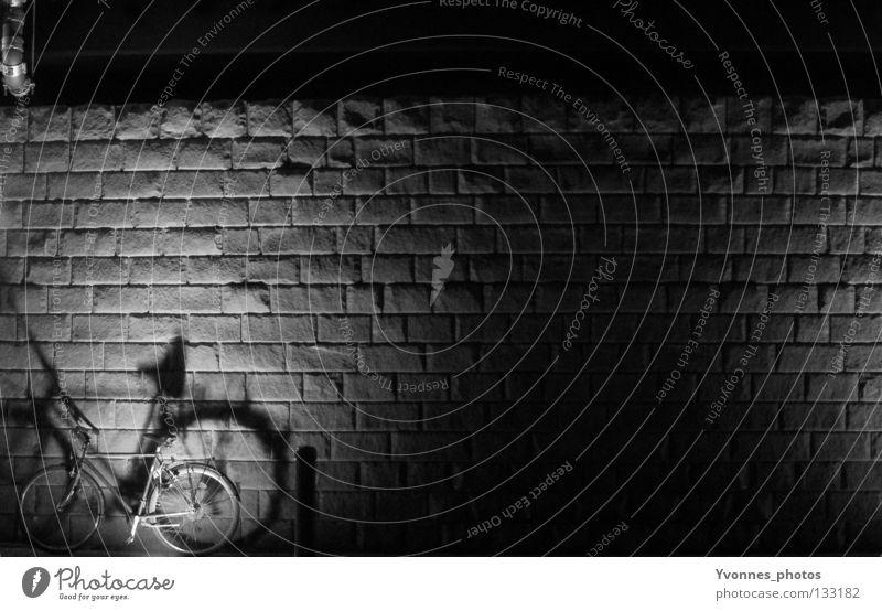 Black Loneliness Street Dark Death Stone Line Feasts & Celebrations Lighting Bicycle Signs and labeling Empty Corner Stripe Asphalt Derelict