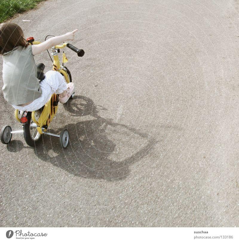 Child Girl Joy Street Playing Small Sit Driving Asphalt Brave Toddler Cycling Brash Freestyle Indicate