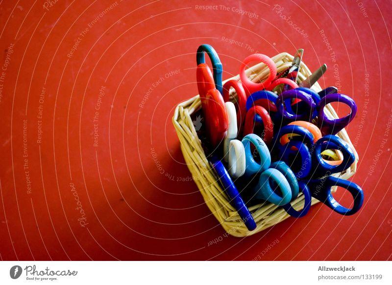 Red Leisure and hobbies Table Desk Craft (trade) Tool Basket Handicraft Cut Scissors
