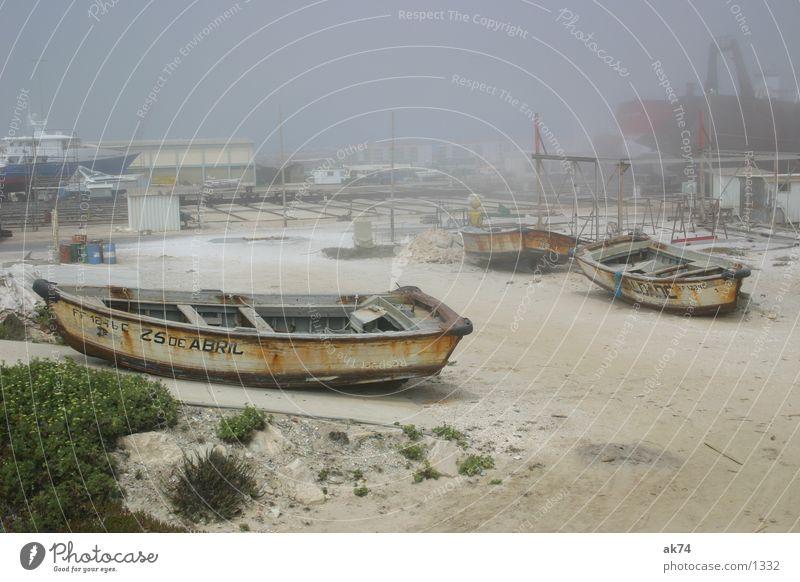 ship graveyard Watercraft Fog Stranded Beach Navigation Harbour Rust