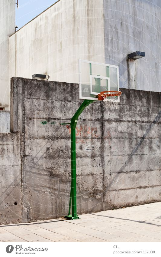 postage / basketball court Leisure and hobbies Sports Sporting event Basketball Sporting Complex Beautiful weather Places Wall (barrier) Wall (building)
