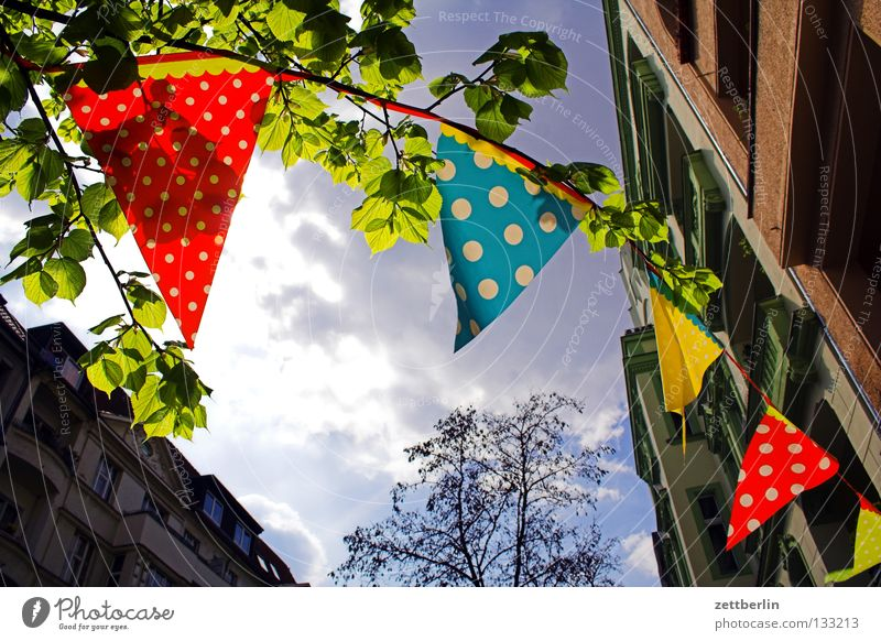 May Day celebrations Flag Paper chain Jewellery Back-light Clouds Joy Club Decoration decorative element. angle element room decoration street jewellery