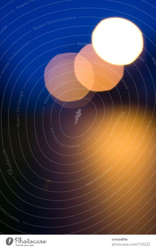 Beautiful Black Yellow Colour Lamp Dark 3 Circle Round Blur Eerie