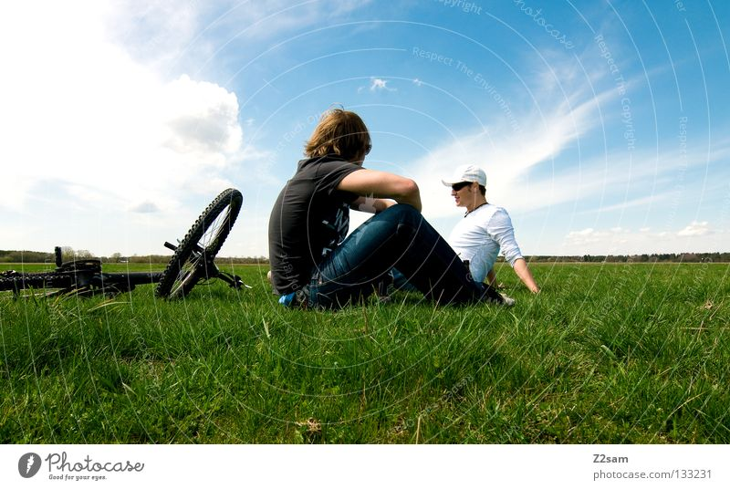 Man Nature Youth (Young adults) Sky White Sun Green Blue Summer Calm Far-off places Colour Relaxation Meadow Jump Style