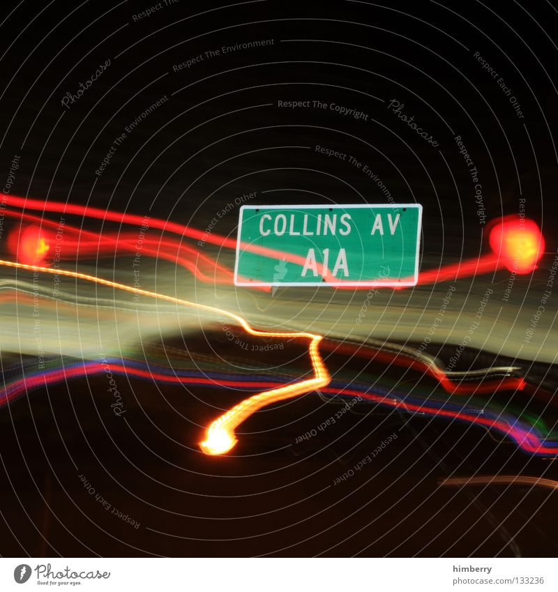collins av Lamp City life Lightning Zoom effect Exposure Long exposure Night Street sign Going Stripe Transport Road traffic Urban traffic regulations Green