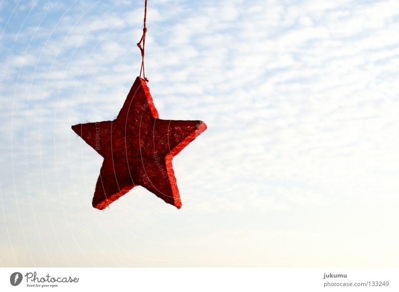 a star ... Back-light Red Clouds Christmas & Advent Sky Star (Symbol) Sun Blue