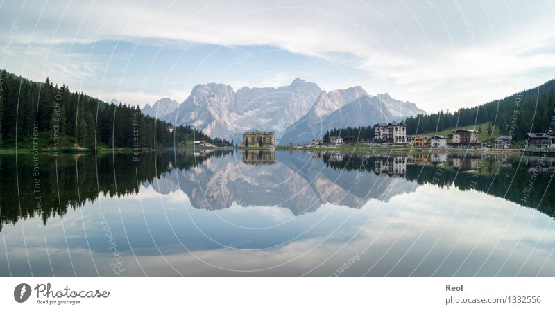 Lake Misurina Vacation & Travel Tourism Trip Far-off places Hiking Environment Nature Landscape Elements Sky Clouds Summer Beautiful weather Rock Alps Mountain
