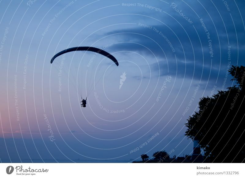 Flying Lima Vacation & Travel Adventure Freedom Summer Ocean Paragliding Video camera Camera Air Water Sky Clouds Horizon Sunrise Sunset Beautiful weather