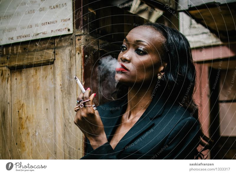 Human being Youth (Young adults) Young woman Eroticism 18 - 30 years Adults Feminine Lifestyle Fashion Esthetic Clothing Smoking Smoke Model Africa Stress