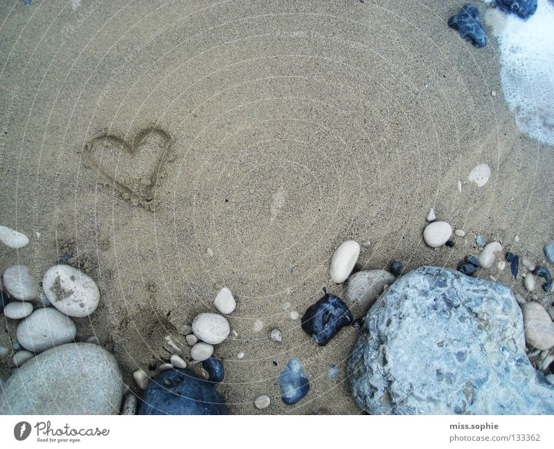 Nature Water Ocean Beach Vacation & Travel Love Stone Sand Heart Coast Rock Earth Safety (feeling of)